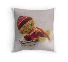 Bamber - Handmade bears from Teddy Bear Orphans Throw Pillow