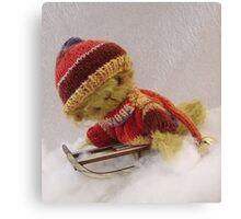 Bamber - Handmade bears from Teddy Bear Orphans Canvas Print
