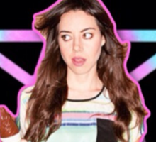 Aubrey Plaza Pentagram Sticker