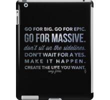 Go for Big! amy ferris iPad Case/Skin