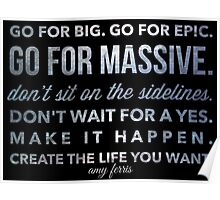 Go for Big! amy ferris Poster