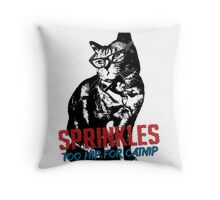 Hipster Sprinkles (series) Throw Pillow