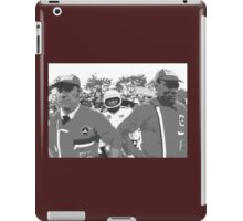 """Unique and rare 1980 Race Trucks France  20 (n&b) (t) """" fawn paint Picasso ! Olao-Olavia by Okaio Créations iPad Case/Skin"""