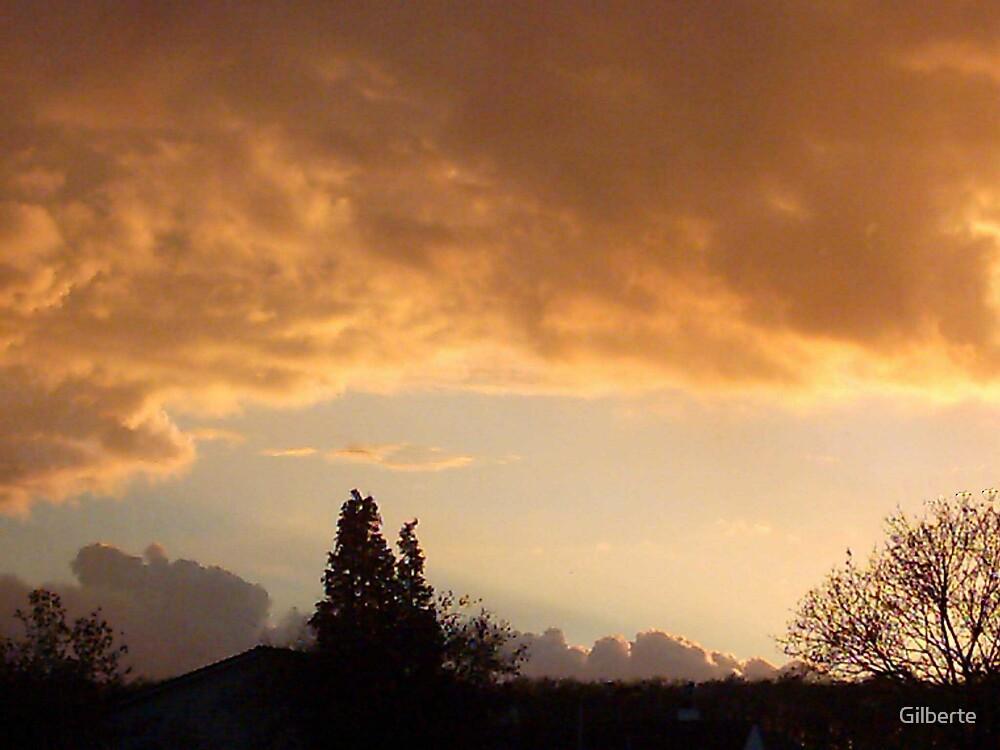 Sunset through my window by Gilberte