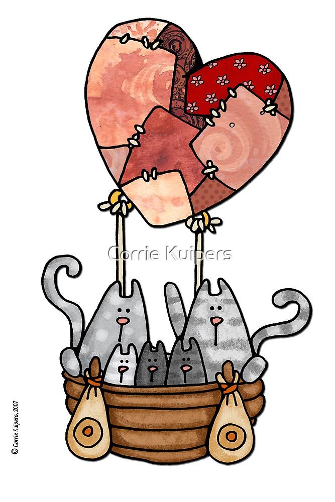 Kitty love balloon by Corrie Kuipers