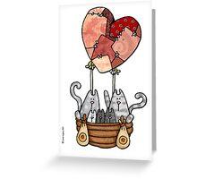 Kitty love balloon Greeting Card