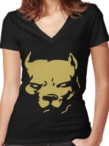 Pit Bull Women's Fitted V-Neck T-Shirt