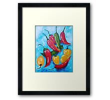Hot Chillies Framed Print