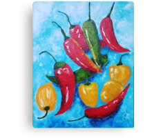 Hot Chillies Canvas Print