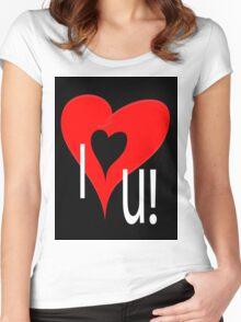 I lov u Women's Fitted Scoop T-Shirt