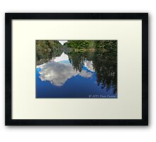 Mirror Mirror On the Water Framed Print