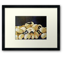 string beans Framed Print