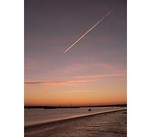 Contrail before dawn Photographic Print