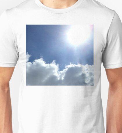 sunny cloudy sky 03/25/17 Unisex T-Shirt
