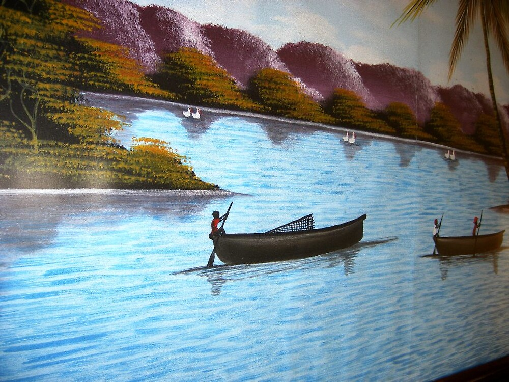 Originan Painting from Botswana by Patrick Ronan