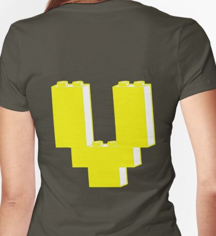 THE LETTER V Womens Fitted T-Shirt