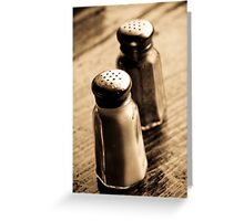 salt, &, pepper Greeting Card
