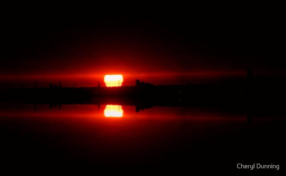dark sunrise 4 by Cheryl Dunning