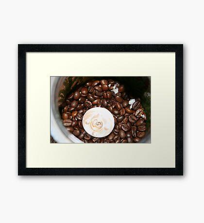 coffee light (As apposed to tea-light) Framed Print