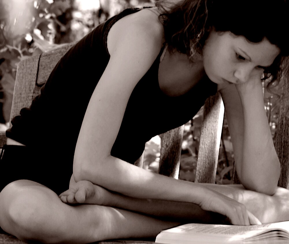 Girl Reading by Krys Squires