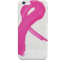 Pink Painted Ribbon iPhone Case/Skin
