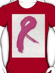 Pink Painted Ribbon T-Shirt