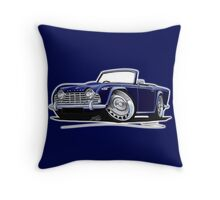Triumph TR4 Dark Blue Throw Pillow