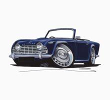 Triumph TR4 Dark Blue Kids Tee