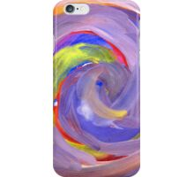 Pink and Violet Painted Texture 2 iPhone Case/Skin