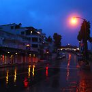 Rainy Night in a Beach Town by Barbara Gordon