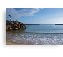 Sea Walls - Dunbogan NSW. Canvas Print