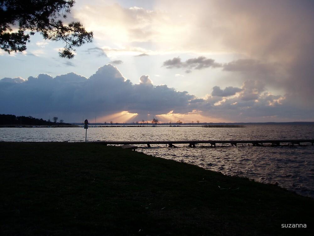 Sunset Lake by suzanna