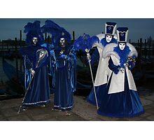 blue night couples Photographic Print