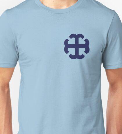 Navy French Cross Sticker  Unisex T-Shirt
