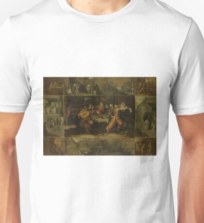 Frans Francken (Ii) - The Story Of The Prodigal Son, 1620 Unisex T-Shirt