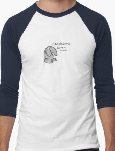 elephants are good listeners Men's Baseball ¾ T-Shirt