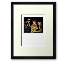 weird run-dmc Framed Print