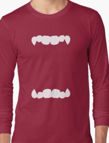 HALLOWEEN costume wide open mouth with teeth scary! Long Sleeve T-Shirt
