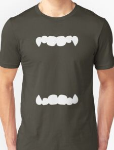 HALLOWEEN costume wide open mouth with teeth scary! Unisex T-Shirt