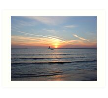 Lake Michigan Sunset Art Print