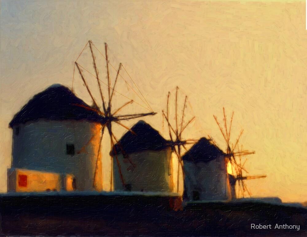 Mykonos Sunset by Robert  Anthony