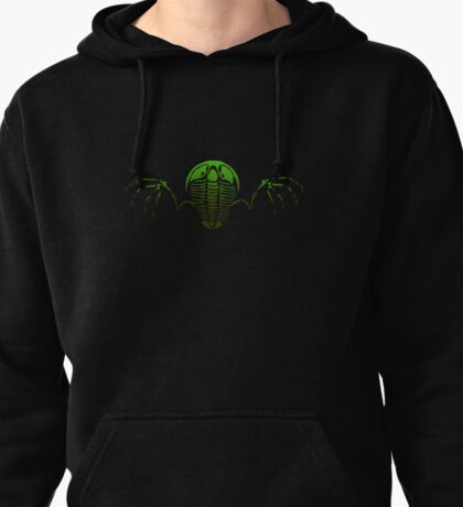Flying Trilobite Fossil green Pullover Hoodie