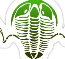 Flying Trilobite Fossil green Sticker