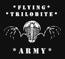 Flying Trilobite Army - white One Piece - Long Sleeve