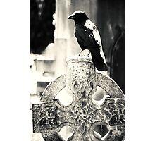Crow Celtic Cross Photographic Print