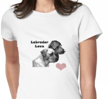 Labrador Love Womens Fitted T-Shirt