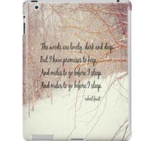 Miles to Go Robert Frost iPad Case/Skin