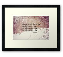Miles to Go Robert Frost Framed Print
