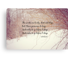 Miles to Go Robert Frost Canvas Print