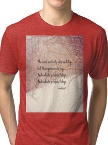 Miles to Go Robert Frost Tri-blend T-Shirt